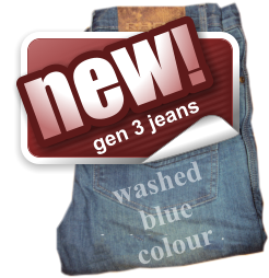 new! gen 3 jeans washed blue colour